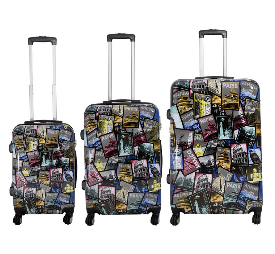 3 delig kofferset City