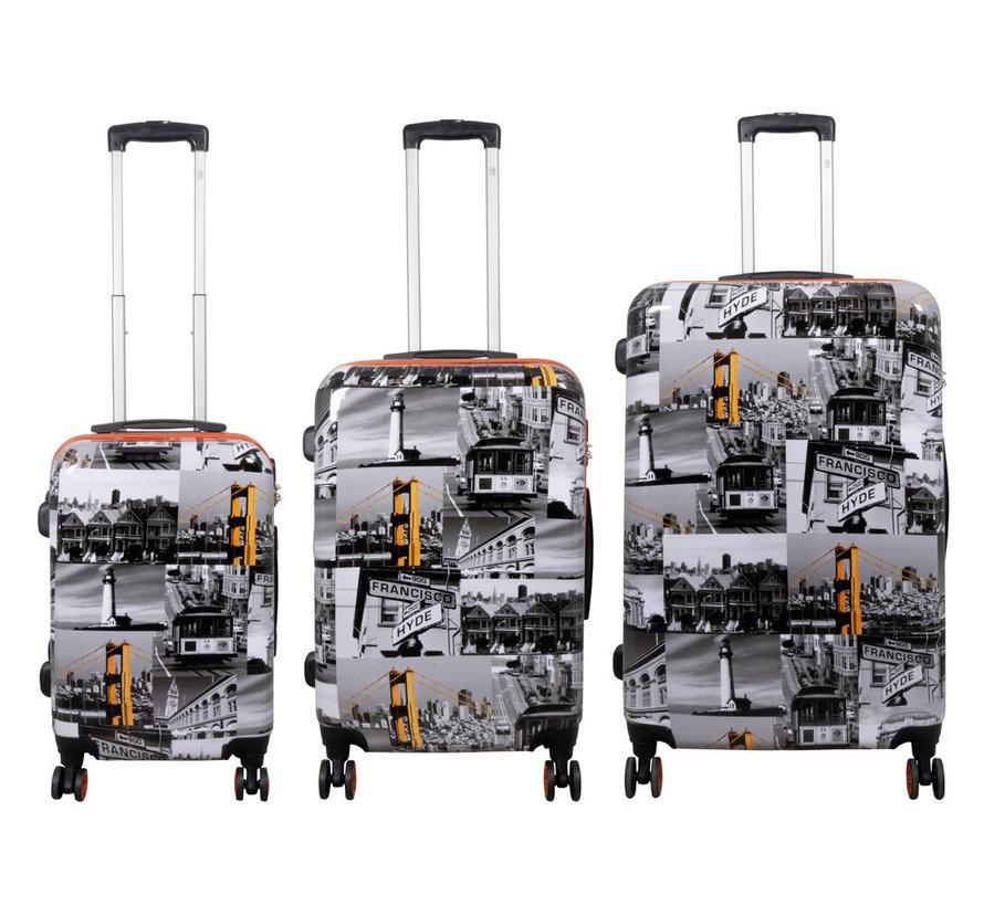 3 delig kofferset San Francisco