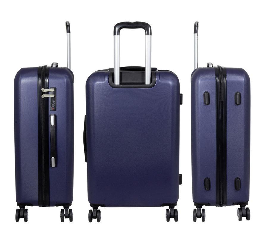 3 Delig kofferset Trump ABS Blauw