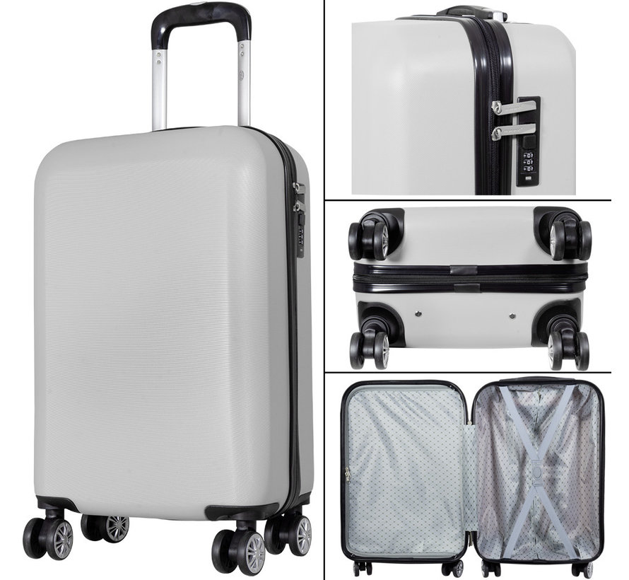 3 Delig kofferset Trump ABS Zilver