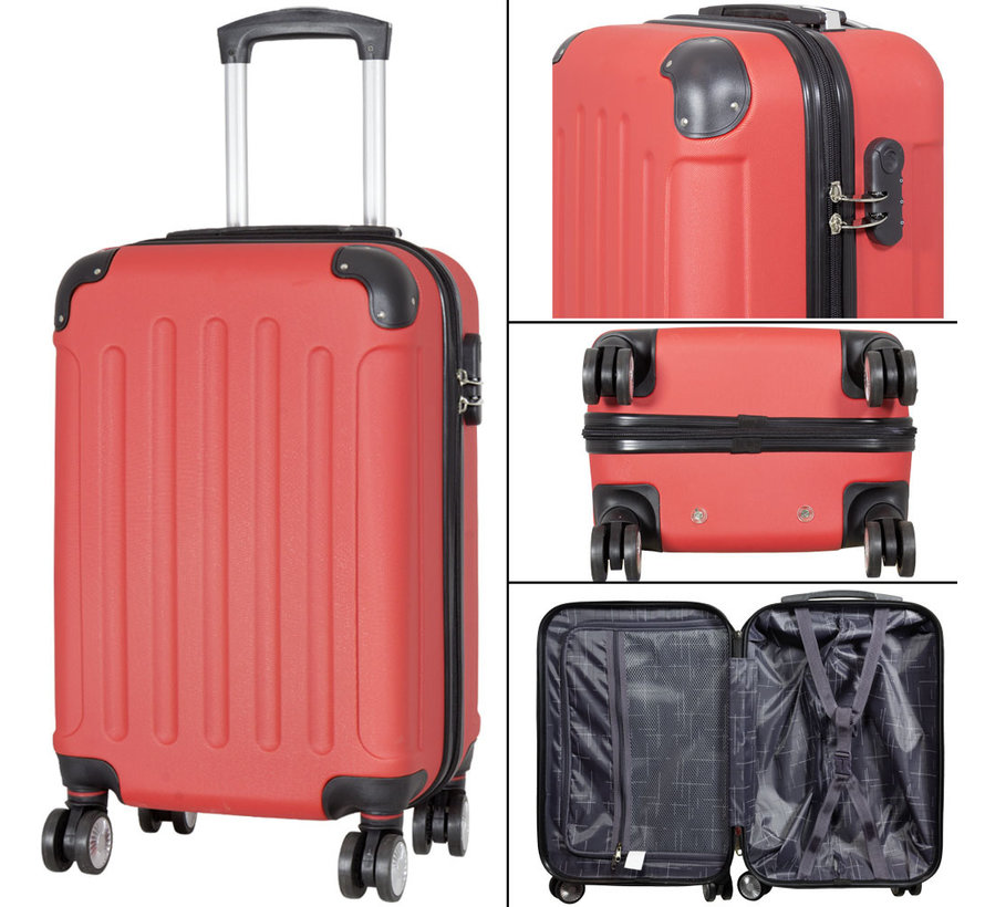 koffers Diva Deluxe. Rood