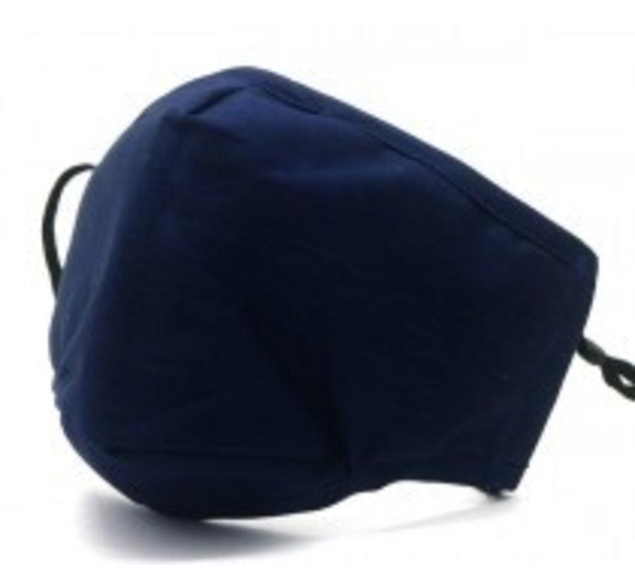 Modemasker met ruimte voor filter - Blauw