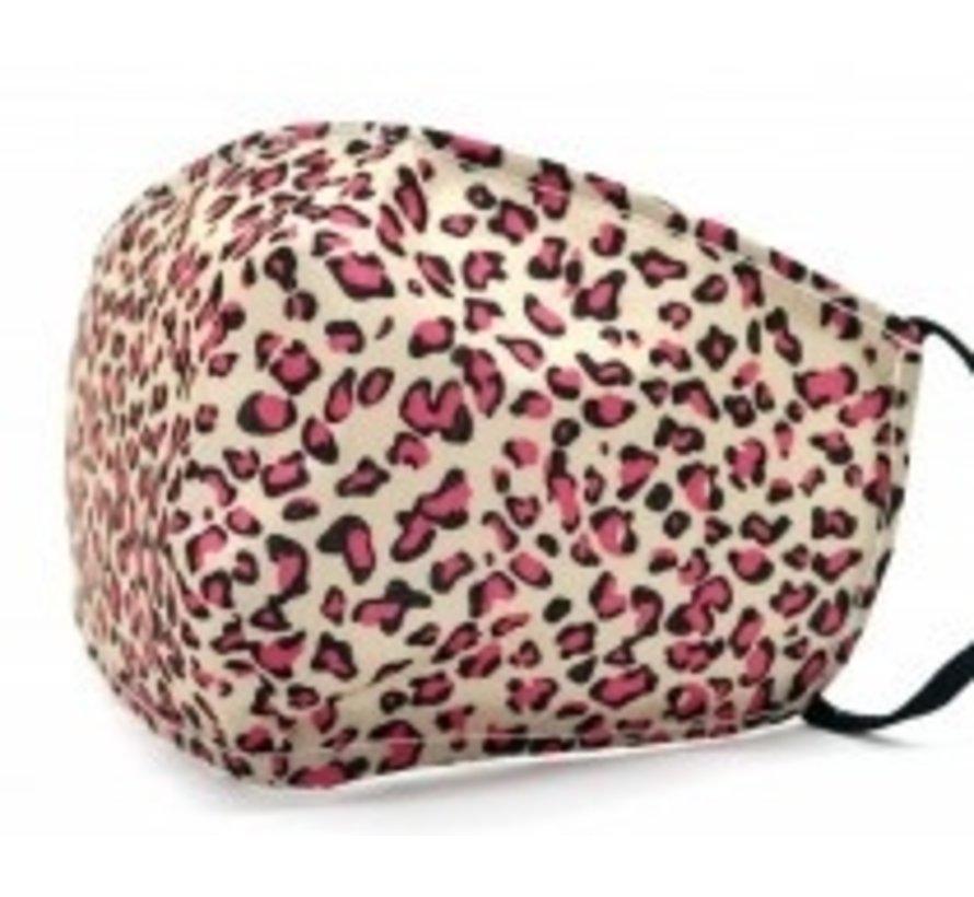 Gezichtsmasker Leopard Pink