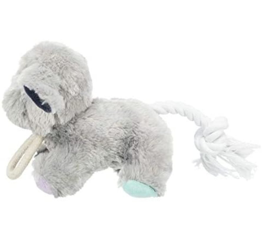 junior pluche hond met touw 24 CM