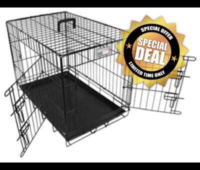 Doginox Doginox bench 2-deurs zwart 108,5x70,5x77,5 cm