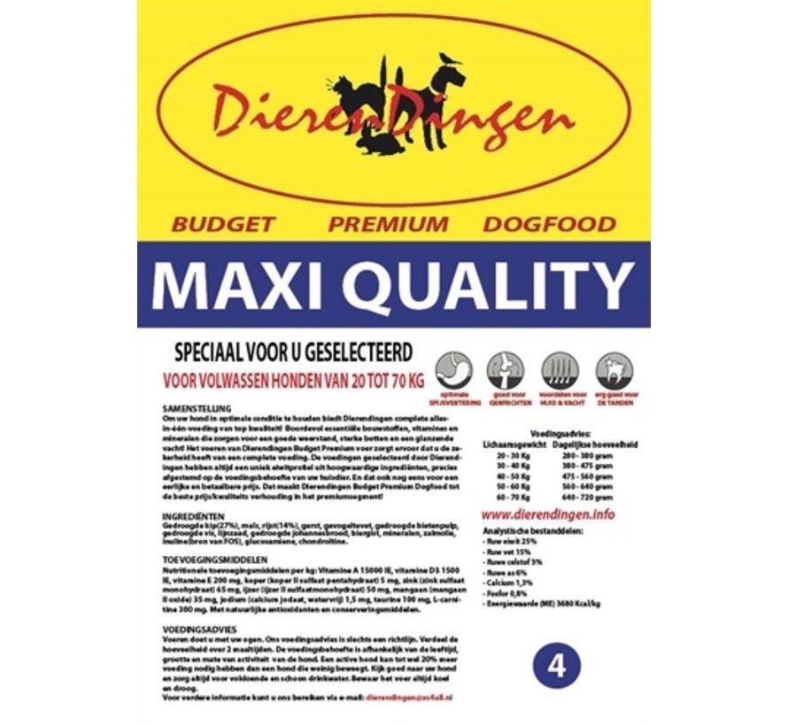 Budget premium dogfood adult maxi quality
