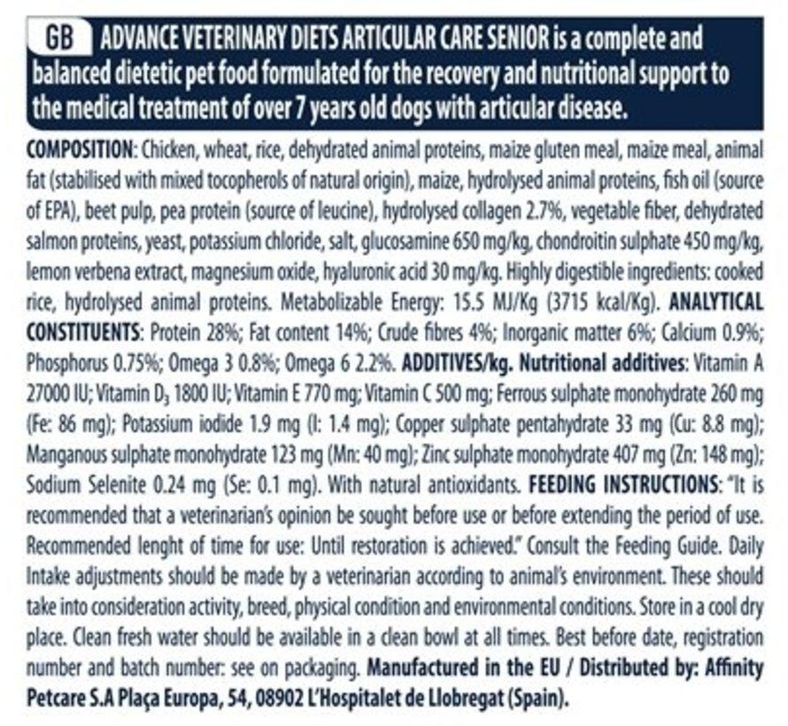 Advance veterinary articular senior