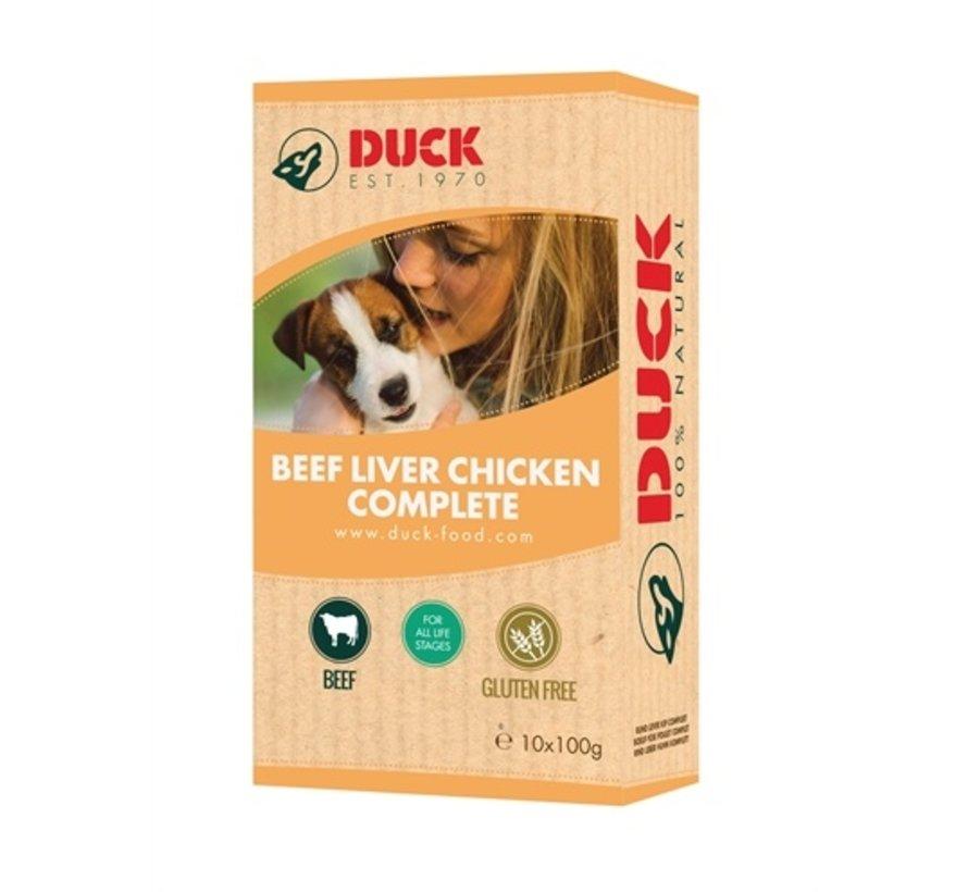 8x duck rund/lever/kip compleet