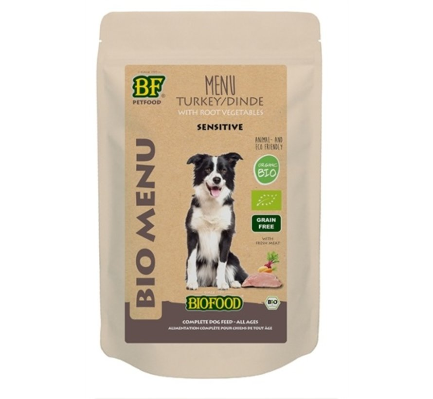 15x biofood organic hond kalkoen menu pouch