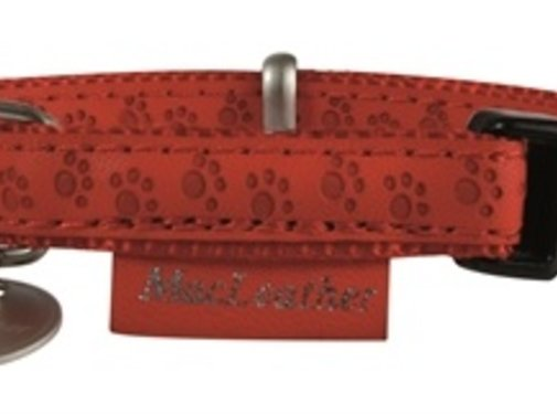 Macleather Macleather halsband rood