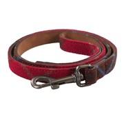 Joules Joules hondenriem heritage tweed leer rood