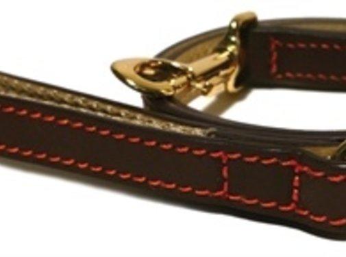 Rosewood Luxury leather lijn hond leer luxe bruin