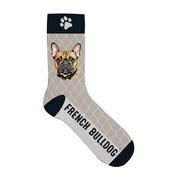 Merkloos Sokken french bulldog