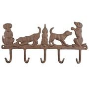Merkloos Hanger 5 honden gietijzer
