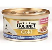 Gourmet 24x gourmet gold luxe mix zeevis in saus met spinazie
