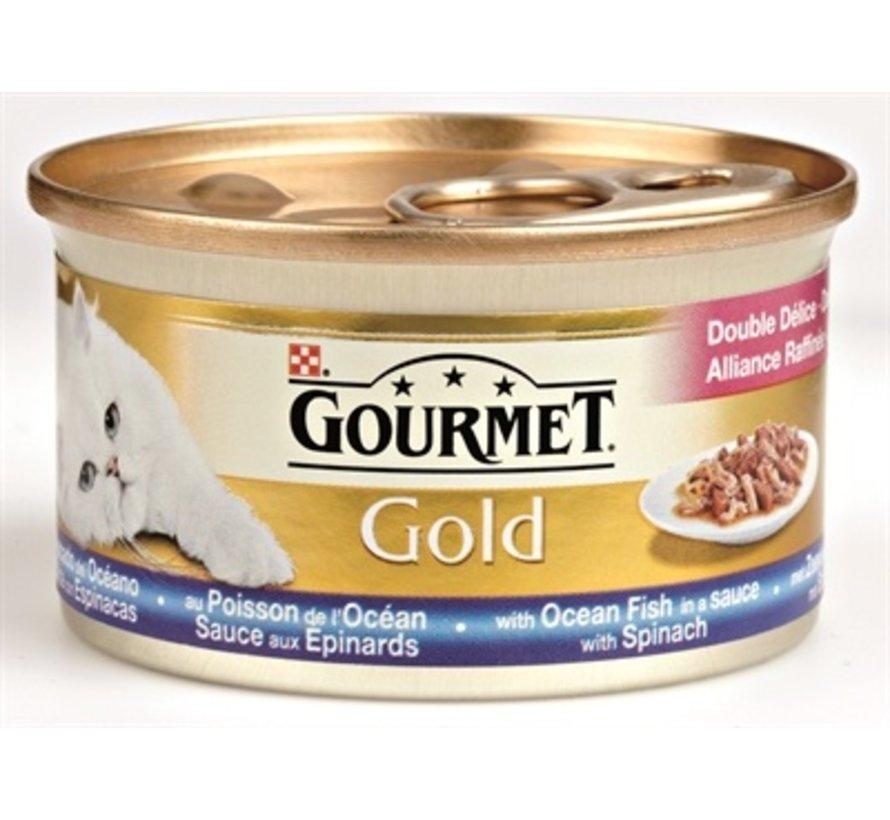 24x gourmet gold luxe mix zeevis in saus met spinazie