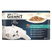 Gourmet 12x gourmet perle 4-pack pouch vis delicatesse