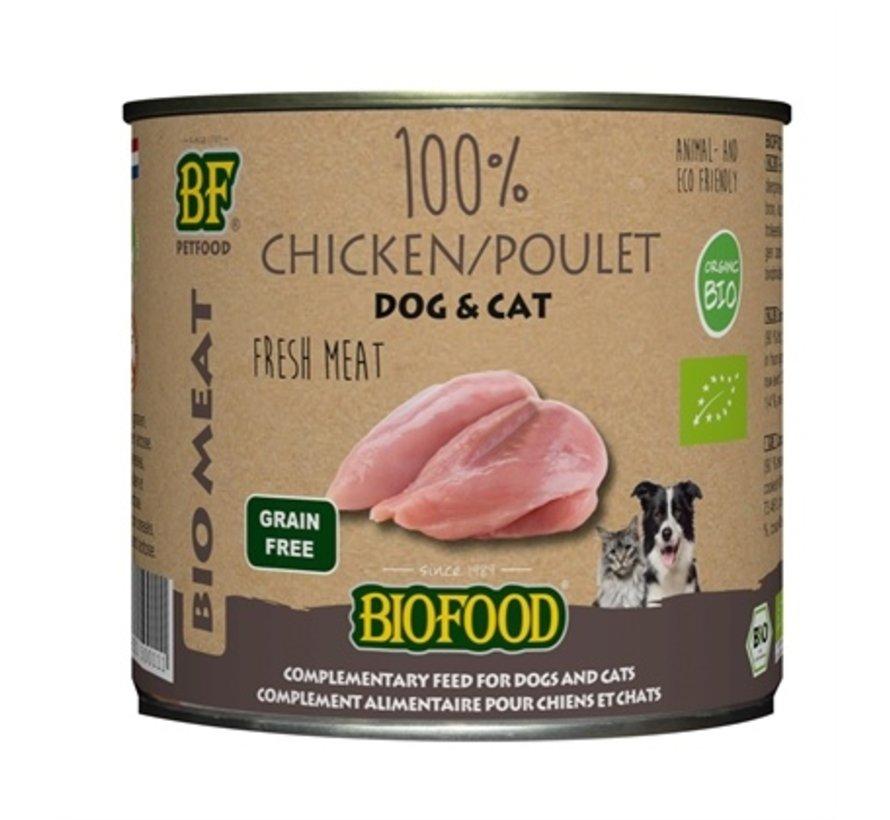12x biofood organic kat 100% kip blik
