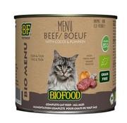 Biofood 12x biofood organic kat rund menu blik