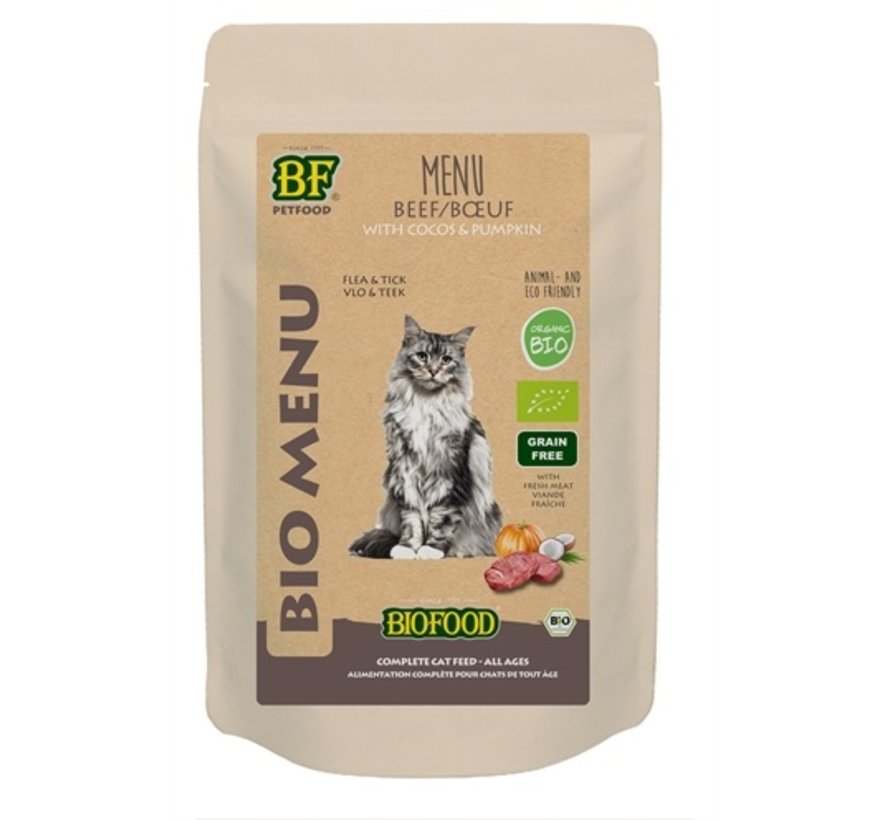 20x biofood organic kat rund menu pouch