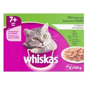 Whiskas 4x whiskas multipack pouch senior mix selectie vlees / vis in saus