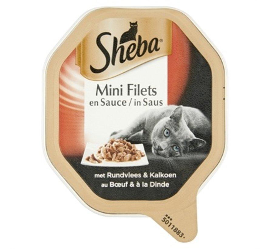 22x sheba alu mini filets rund / kalkoen in saus