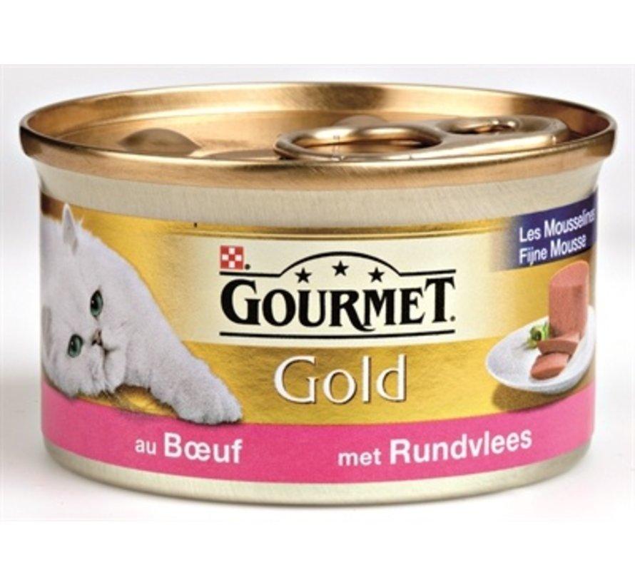 24x gourmet gold fijne mousse rund