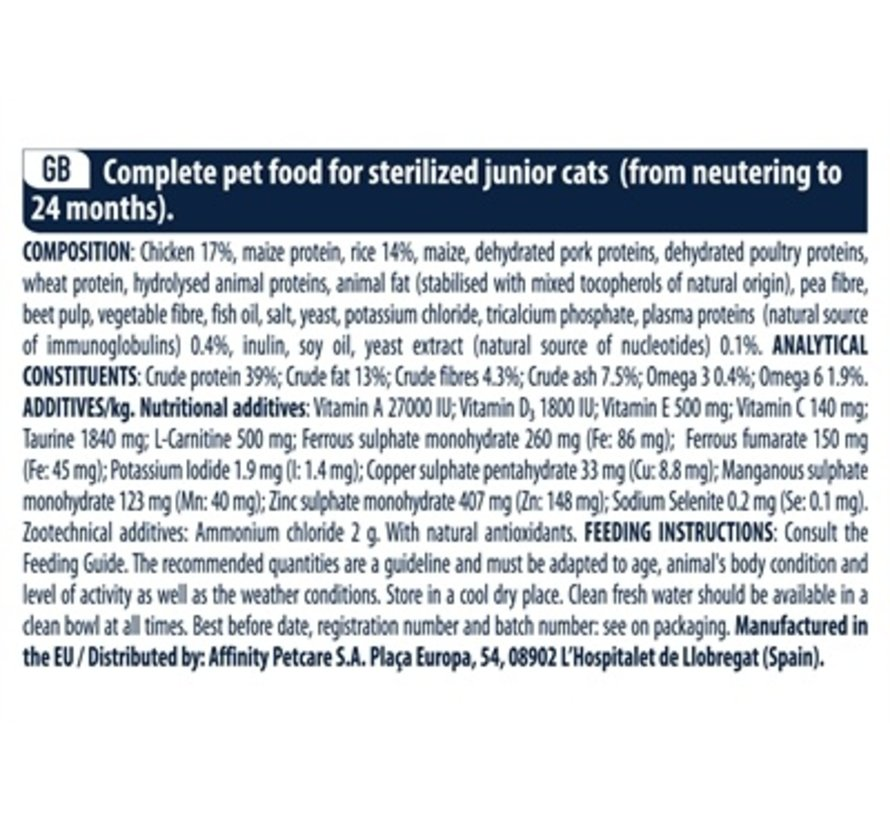 Advance cat junior sterilised chicken