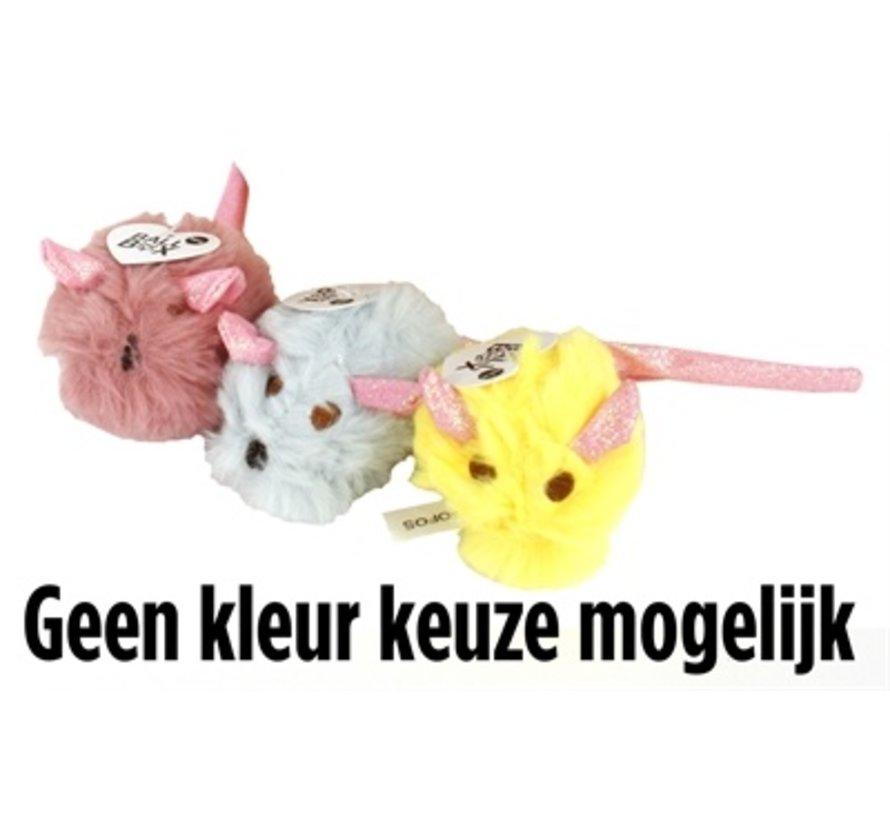 Fofos pluche muis met glitterstaart