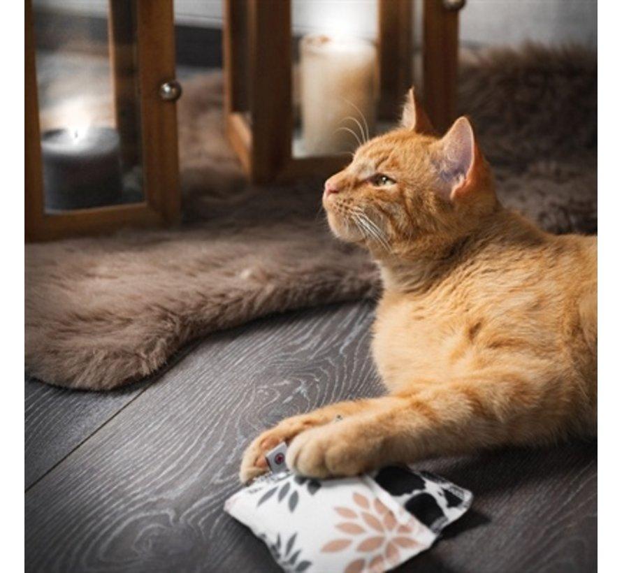 Canadian cat speelkussen punkte met catnip zwart / wit