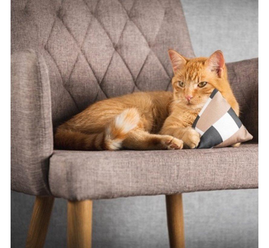 Canadian cat mini pyramide set met catnip bruin / beige