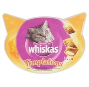 Whiskas 8x whiskas snack temptations kip/kaas