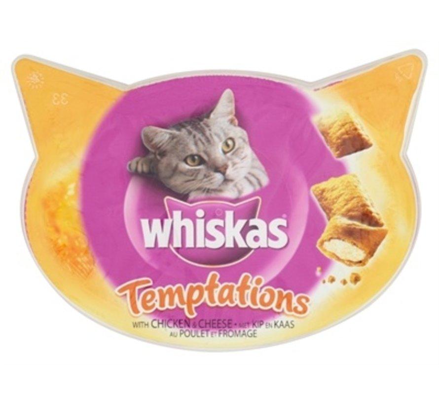 8x whiskas snack temptations kip/kaas