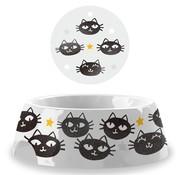 Tarhong Tarhong voerbak matt the cat wit / zwart