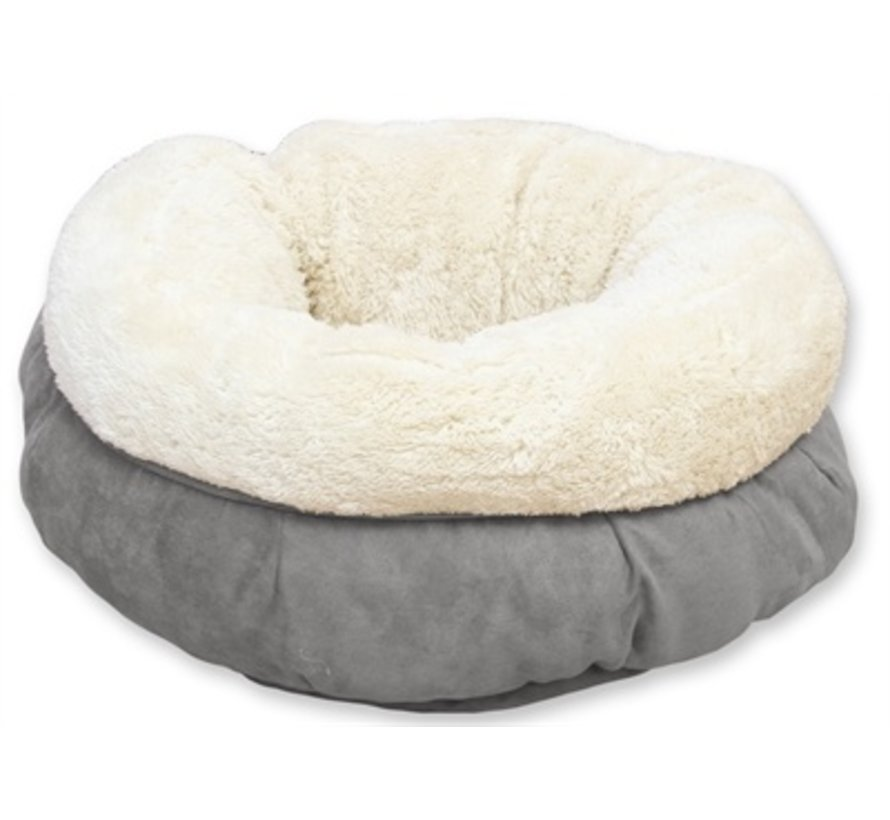 Afp lamswol donut bed grijs