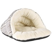 Petbrands Petbrands festive tweedy cat cave grijs