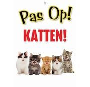 Merkloos Waakbord nederlands kunststof katten