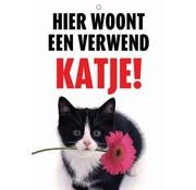 Merkloos Waakbord nederlands kunststof verwend katje