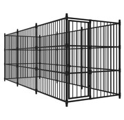 Hondenkennel voor buiten 450x150x185 cm