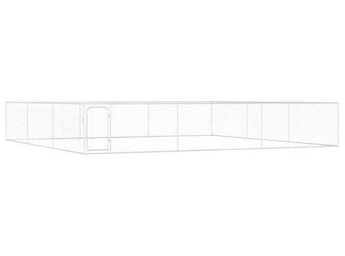 Hondenkennel voor buiten 6x6x1 m gegalvaniseerd staal
