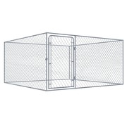 Hondenkennel voor buiten 2x2x1 m gegalvaniseerd staal