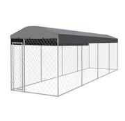 Hondenkennel voor buiten met dak 8x2x2,4 m