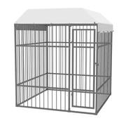 Hondenkennel voor buiten met dak 2x2x2,3 m