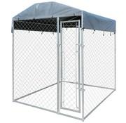 Hondenkennel voor buiten met dak 2x2x2,4 m