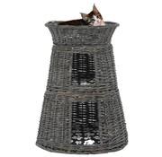 3-delige Kattenmandenset met kussens 47x34x60 cm wilgen