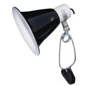 Komodo Komodo black dome clamp lamp fixture