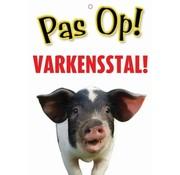 Merkloos Waakbord nederlands kunststof varkensstal