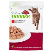 Natural trainer Natural trainer cat adult beef pouch