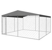 Hondenkennel voor buiten met dak 4x4x2,4 m