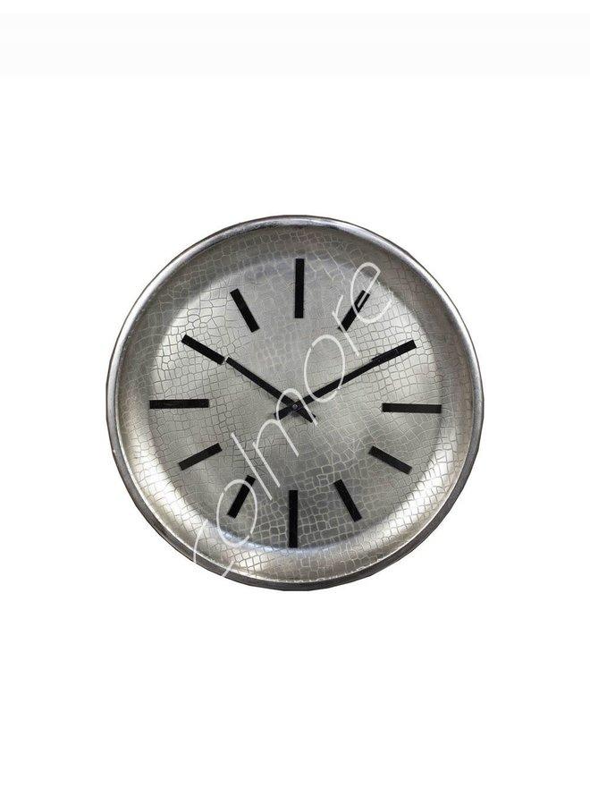 WALL CLOCK SILVER 40X5X40